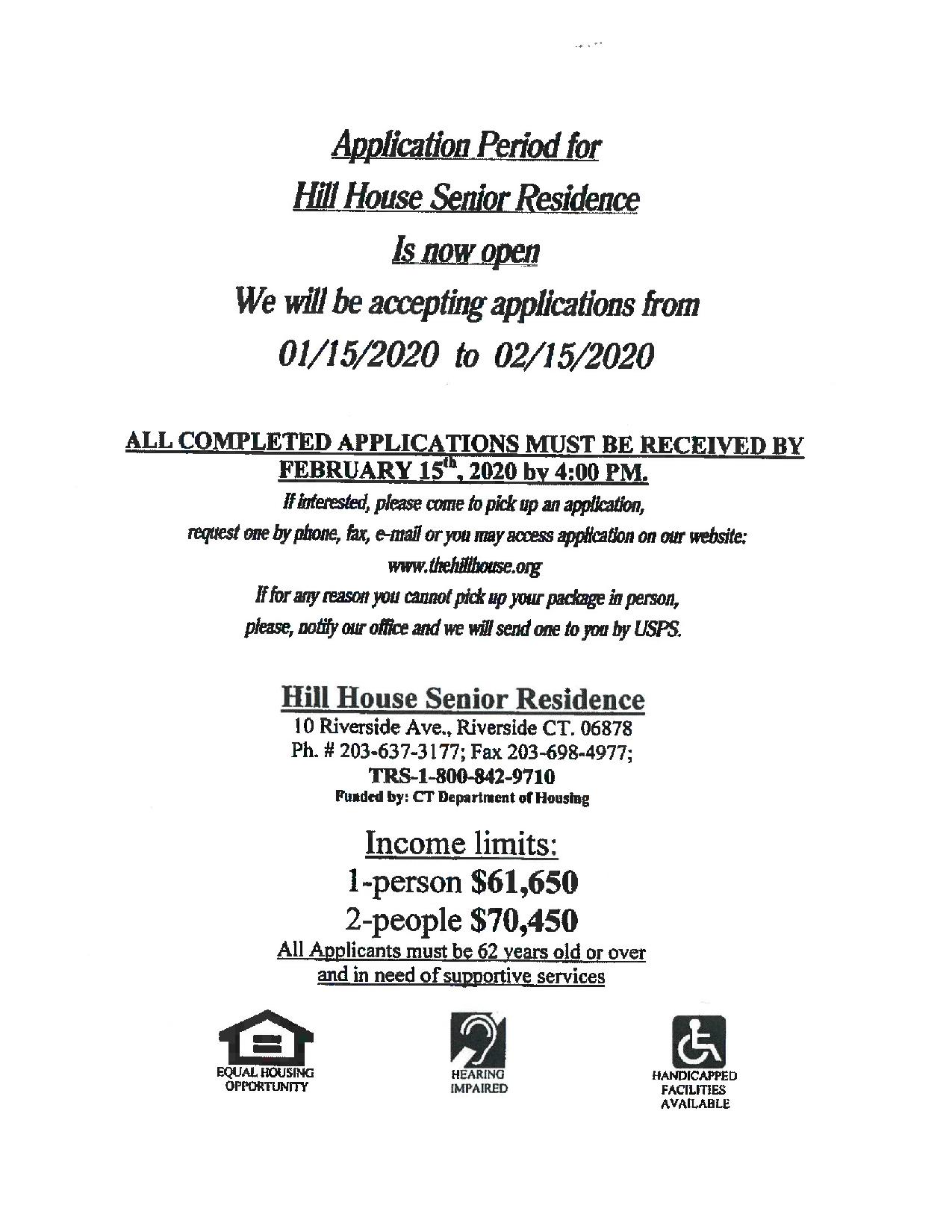 Hill House Application